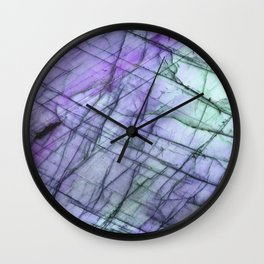 Purple Labradorite Wall Clock