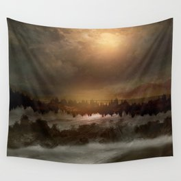 Magical sunset in winter Wall Tapestry