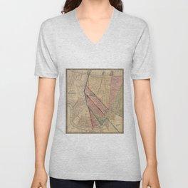 Vintage Map of New Orleans LA (1861) Unisex V-Neck