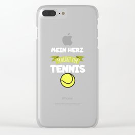 My heart beats for tennis Clear iPhone Case