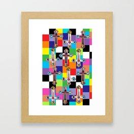 Jesus is The New Pattern 2 Framed Art Print