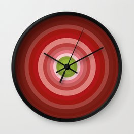 Beetroot Pink Circles Wall Clock