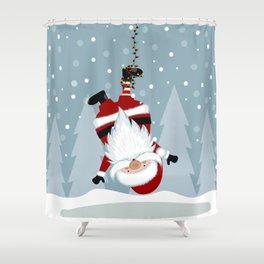 funny santa Shower Curtain