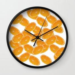 slices of orange Wall Clock