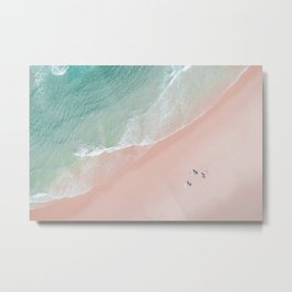 Surf Yoga II Metal Print