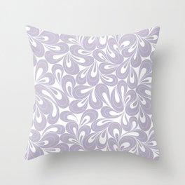 Violet Petals hand drawn elegant surface pattern for girls Throw Pillow