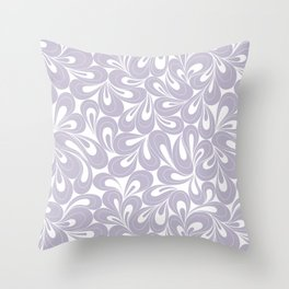 Violet Petals hand drawn elegant surface pattern for girls Throw Pillow