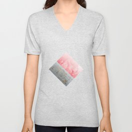 Concrete and Pink Unisex V-Neck