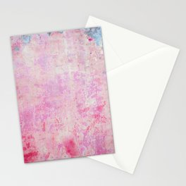 abstract vintage wall texture - pink retro style background Stationery Cards