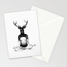 Deer Yoga Stationery Cards