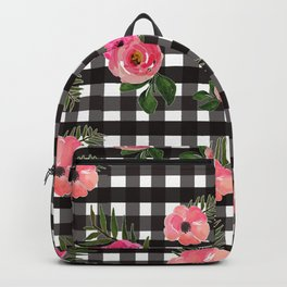 Gingham+Floral Backpack