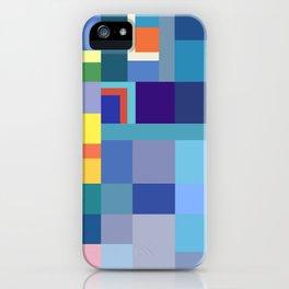 Blue Checker Pattern iPhone Case