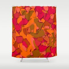 red camouflage Shower Curtain
