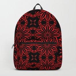 Deep Red Floral Backpack