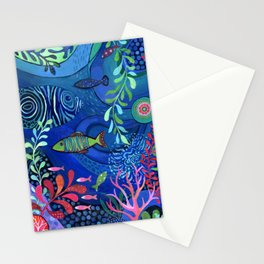 Botanical Sea Garden Stationery Cards