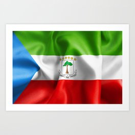 Equatorial Guinea Flag Art Print