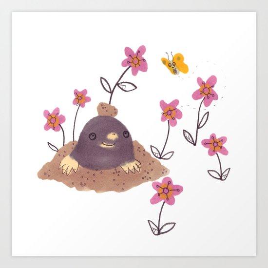 Hello Mole! Art Print