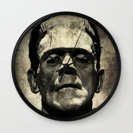 Frankenstein Grunge Wall Clock
