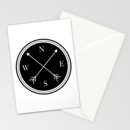 Directions \\ Abstract Compass Design Stationery Cards