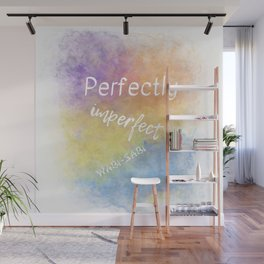 Perfectly Imperfect - Wabi-Sabi (white, blue, orange, yellow, purple) Wall Mural