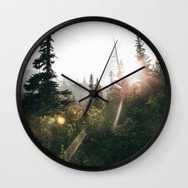 Sunny Forest II Wall Clock