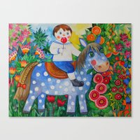 pony Canvas Prints featuring Pony by oxana zaika