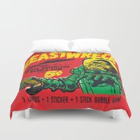 50s Duvet Covers featuring BEASTWRECK ATTACKS! by BeastWreck