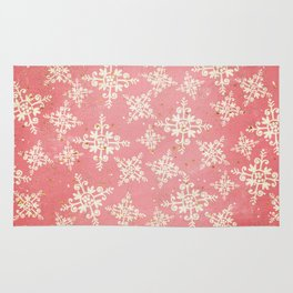 Red and Gold Snowflakes 1 Rug