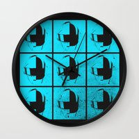 daft punk Wall Clocks featuring Daft Punk by Alli Vanes
