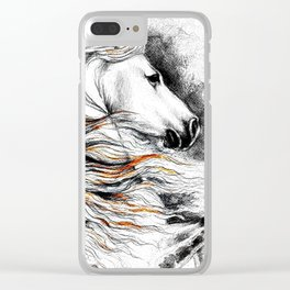 Dark Beauty Horse Clear iPhone Case