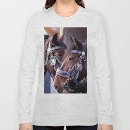 Concept Kaltblutmarkt 2018: 2 horses Long Sleeve T-shirt