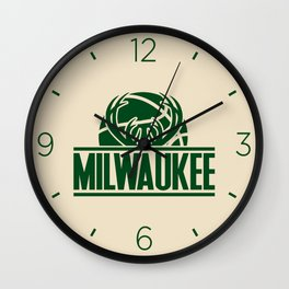 Milwaukee basketball custom cream logo Wall Clock