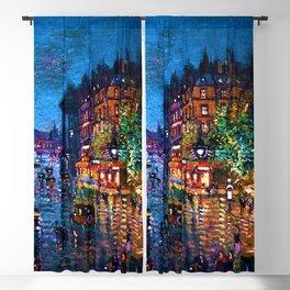 'Paris Boulevard' Night Scene Landscape Paitning by Konstantin Korovin Blackout Curtain