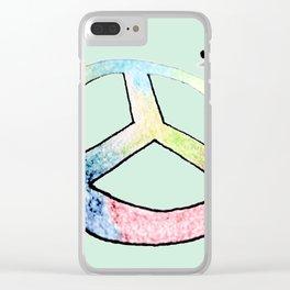 Lápices de la paz Clear iPhone Case