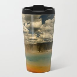 Sunset Lake Under A Cloudy Sky Travel Mug