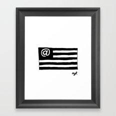 @merica Framed Art Print