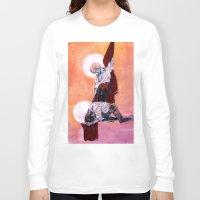 grantaire Long Sleeve T-shirts featuring les miseràbles: oreste à jeun et pylade ivre by Daniela Viçoso