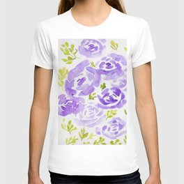 10     190412 Flower Abstract Watercolour Painting T-shirt