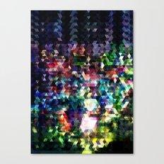 Princess Peach Piranha Plants Glitch Canvas Print