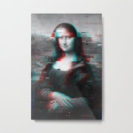 Glitch Mona Lisa Metal Print