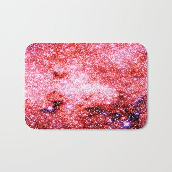 GALaXY Sparkle Stars Pink Coral Lavender Bath Mat