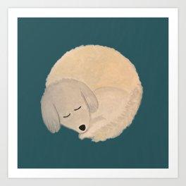 Dog Donut Art Print