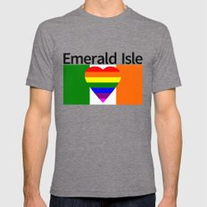 Ireland Gay Wedding Tri-Grey LARGE Mens Fitted Tee