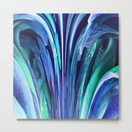 512 - Abstract plant design Metal Print