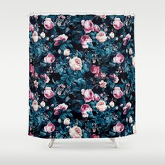 Roses Blue Shower Curtain