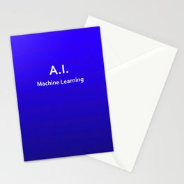 A.I. Machine Learning Stationery Cards