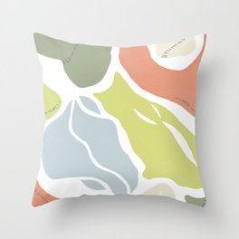 Organic Shapes Abstract Throw Pillow