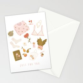 Girly stuff Stationery Cards
