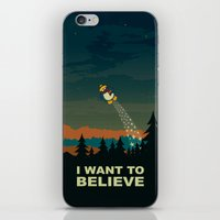 i want to believe iPhone & iPod Skins featuring I want to believe by mangulica illustrations