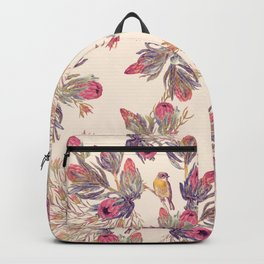 Wild Bloom - pink & cream Backpack